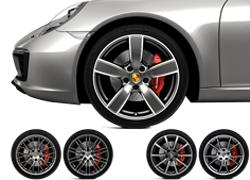 保时捷911车轮套件